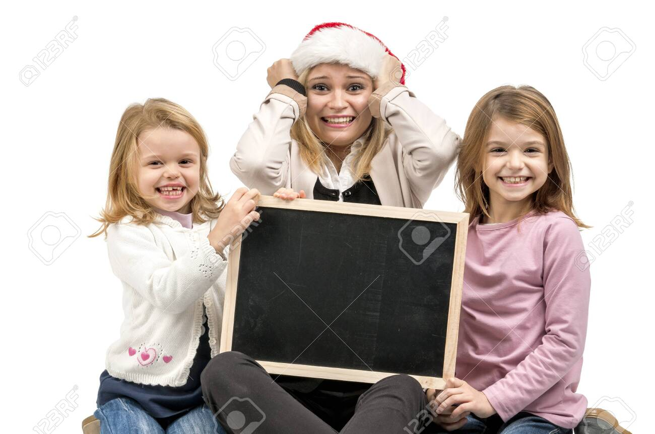 Mother with santa Stock Photo - 16962369