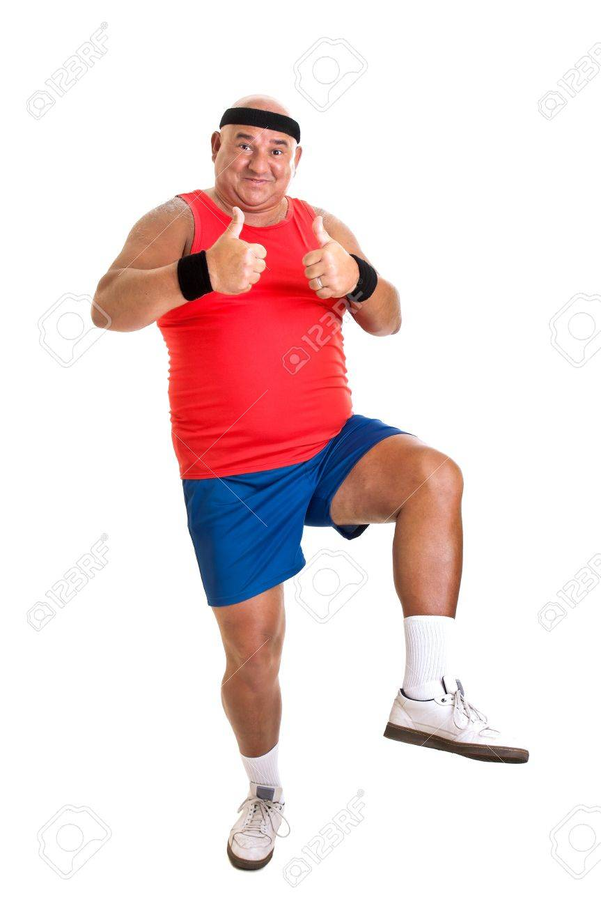 Large fitness man isolated in white Stock Photo - 21267383