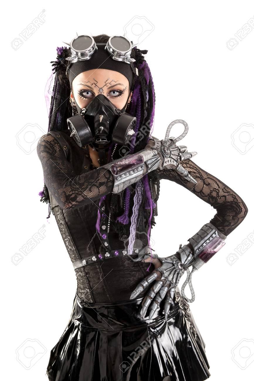 92438384-cyber-gothic-girl-posing-isolat