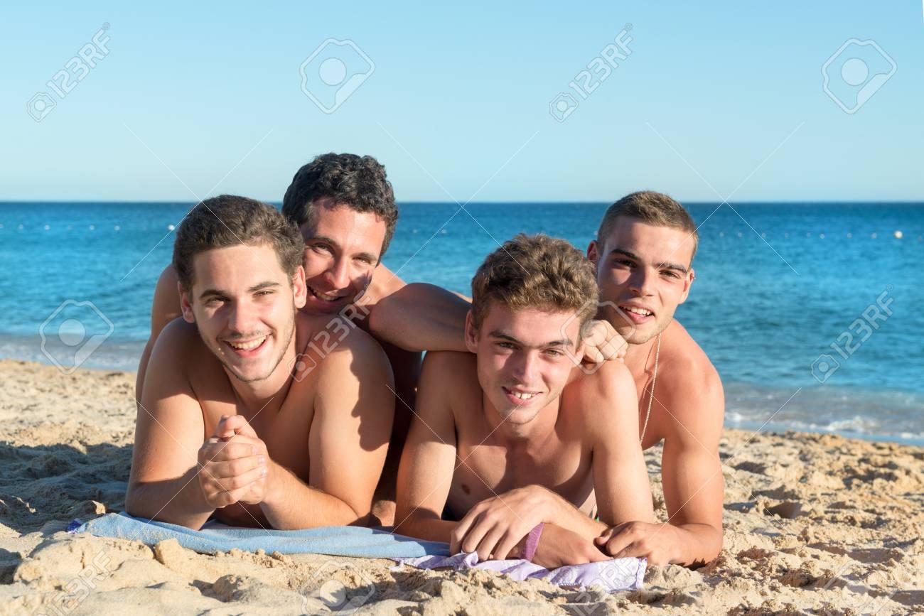 Group Of Boys Having Fun On Th...