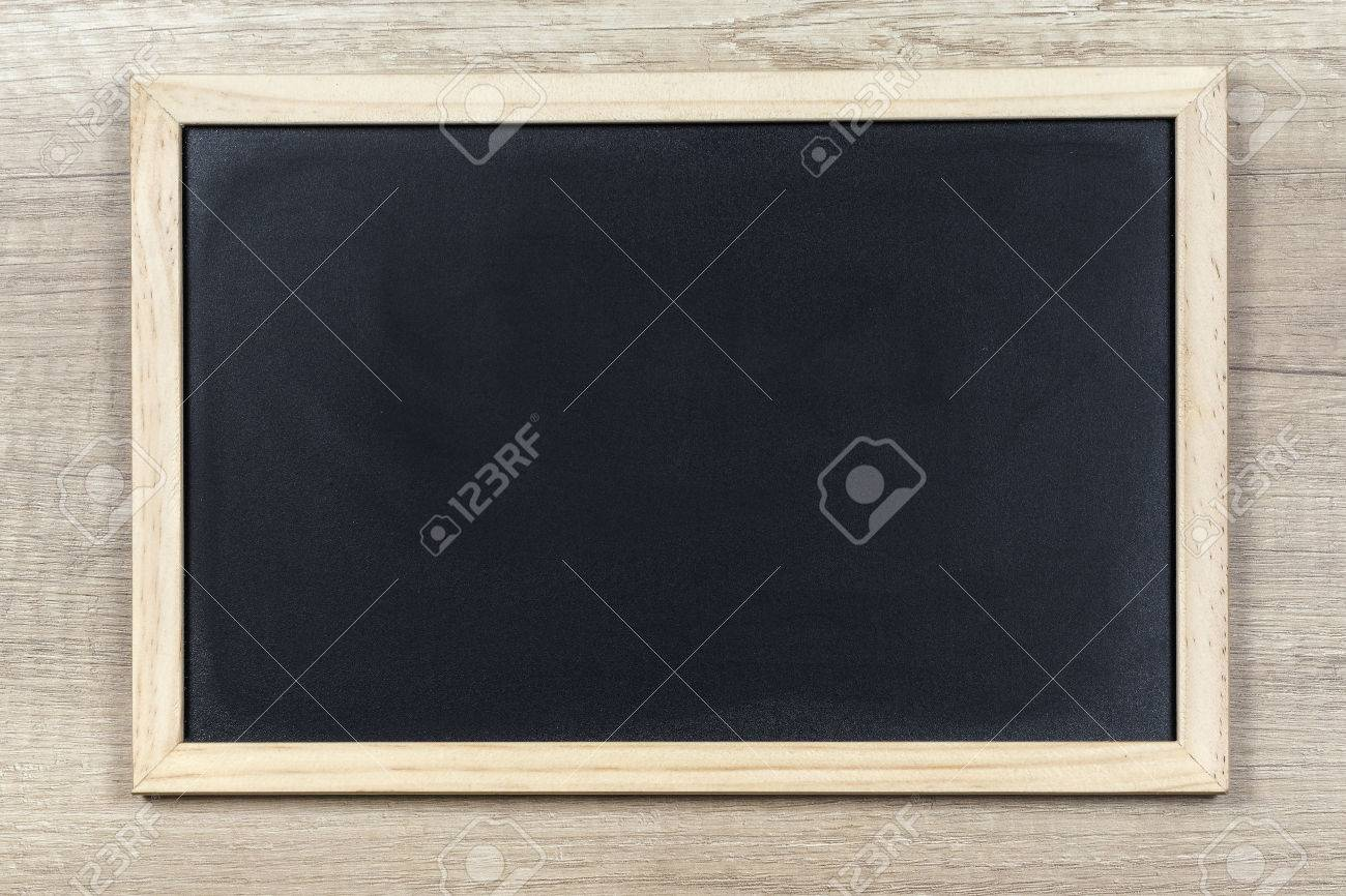 Space Chalkboard Background Texture With Wooden Frame With Space ...