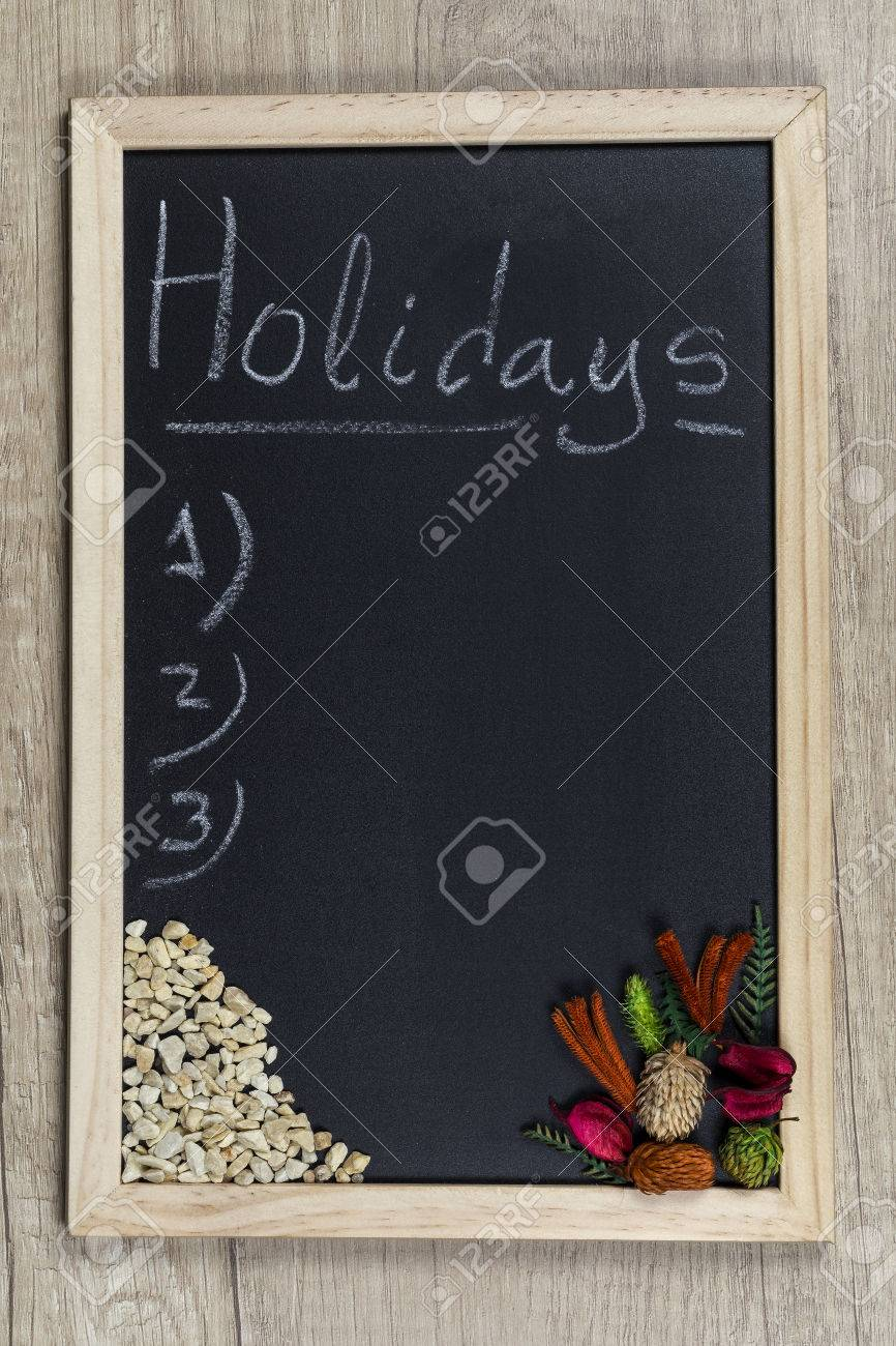 Space Chalkboard Background Texture With Wooden Frame The Word