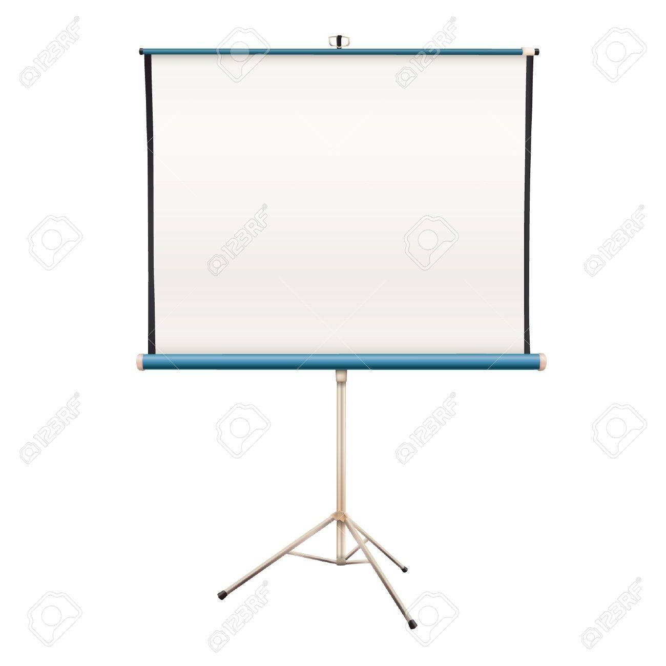 Empty projector screen  Isolated vector design Stock Vector - 16598781
