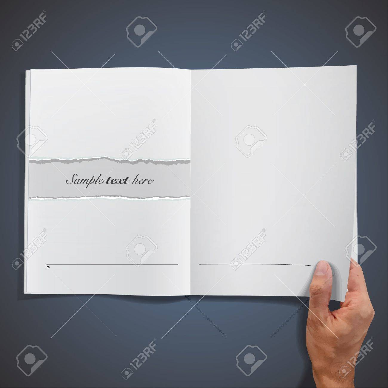 blank empty book on blue background. Stock Vector - 16867752
