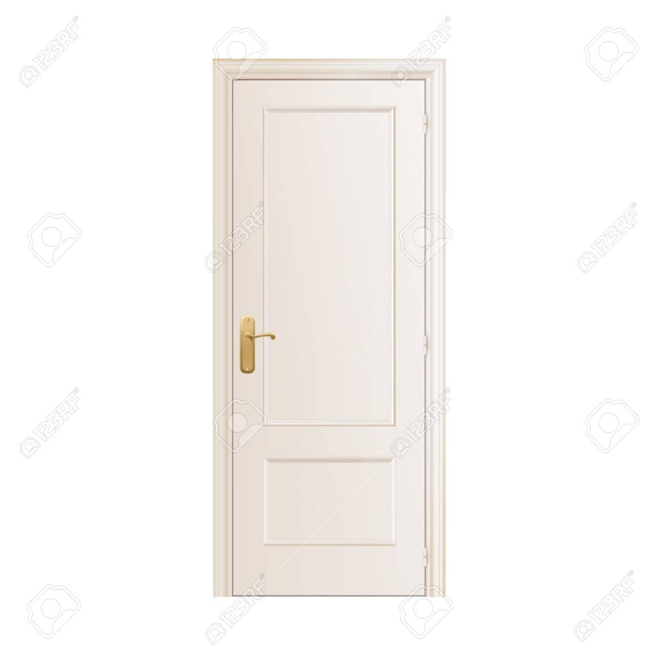 White door on isolated background. Stock Vector - 16867332