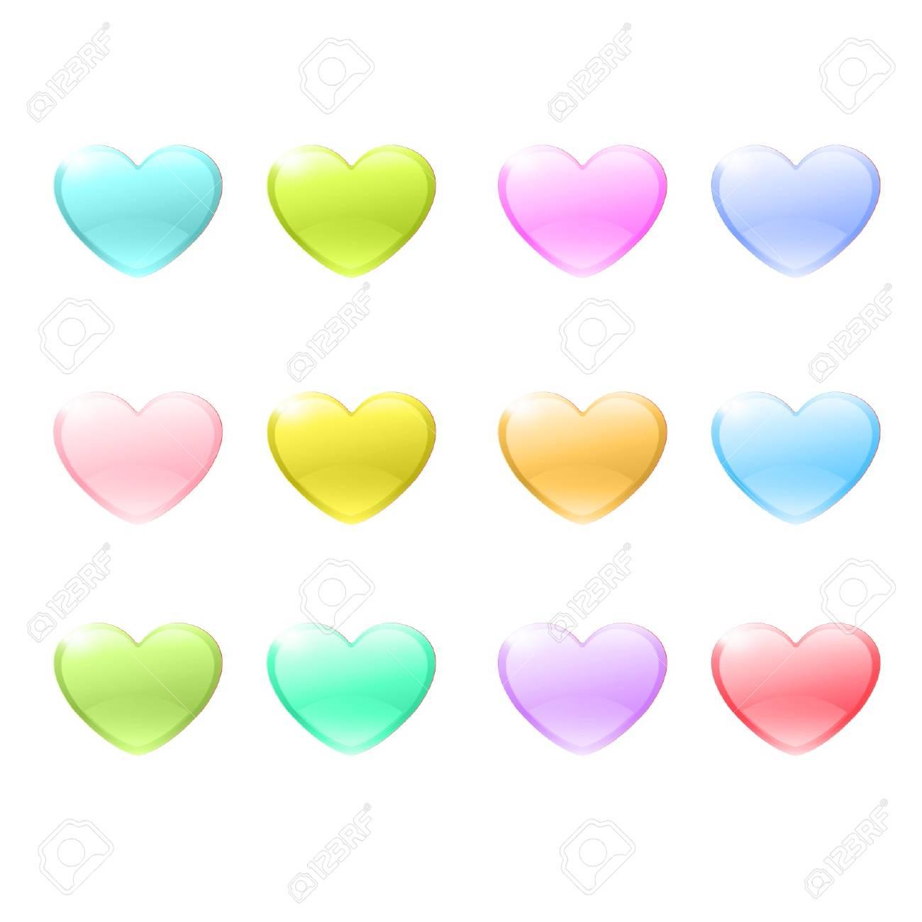 Icon of colorful hearts design Stock Vector - 17150308