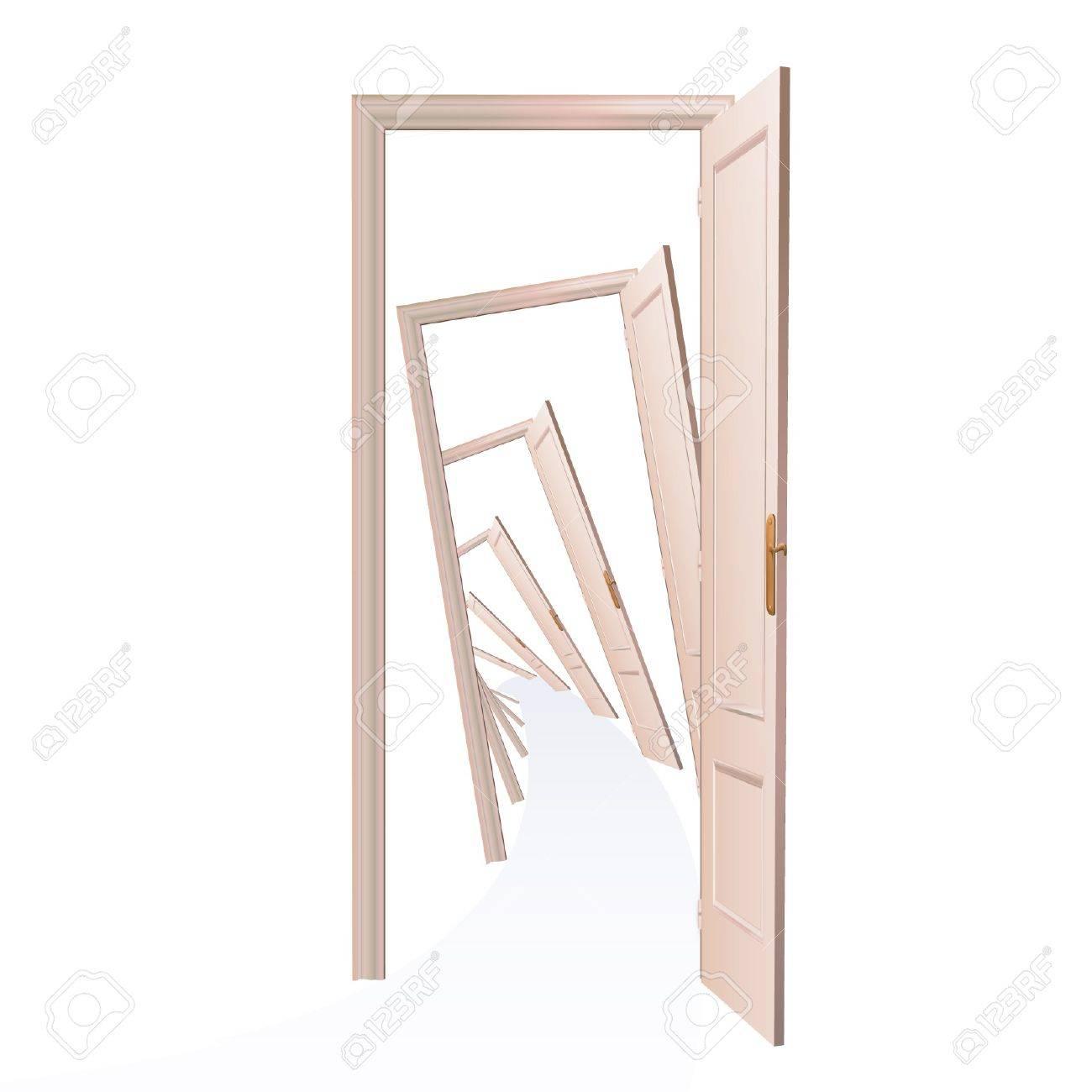 Endless doors  Vector design Stock Vector - 17265459