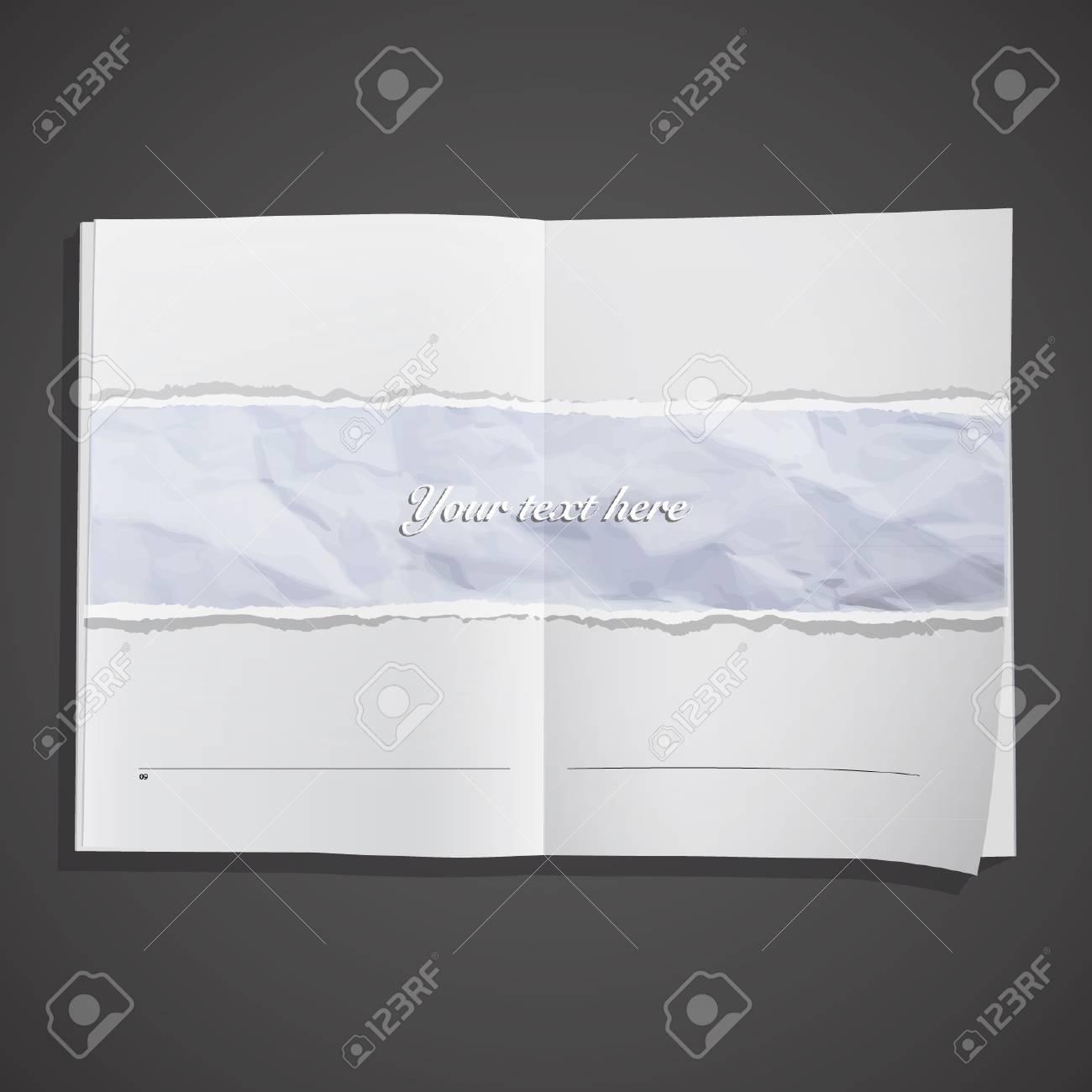 Sheet texture inside a book  Vector design Stock Vector - 17303230
