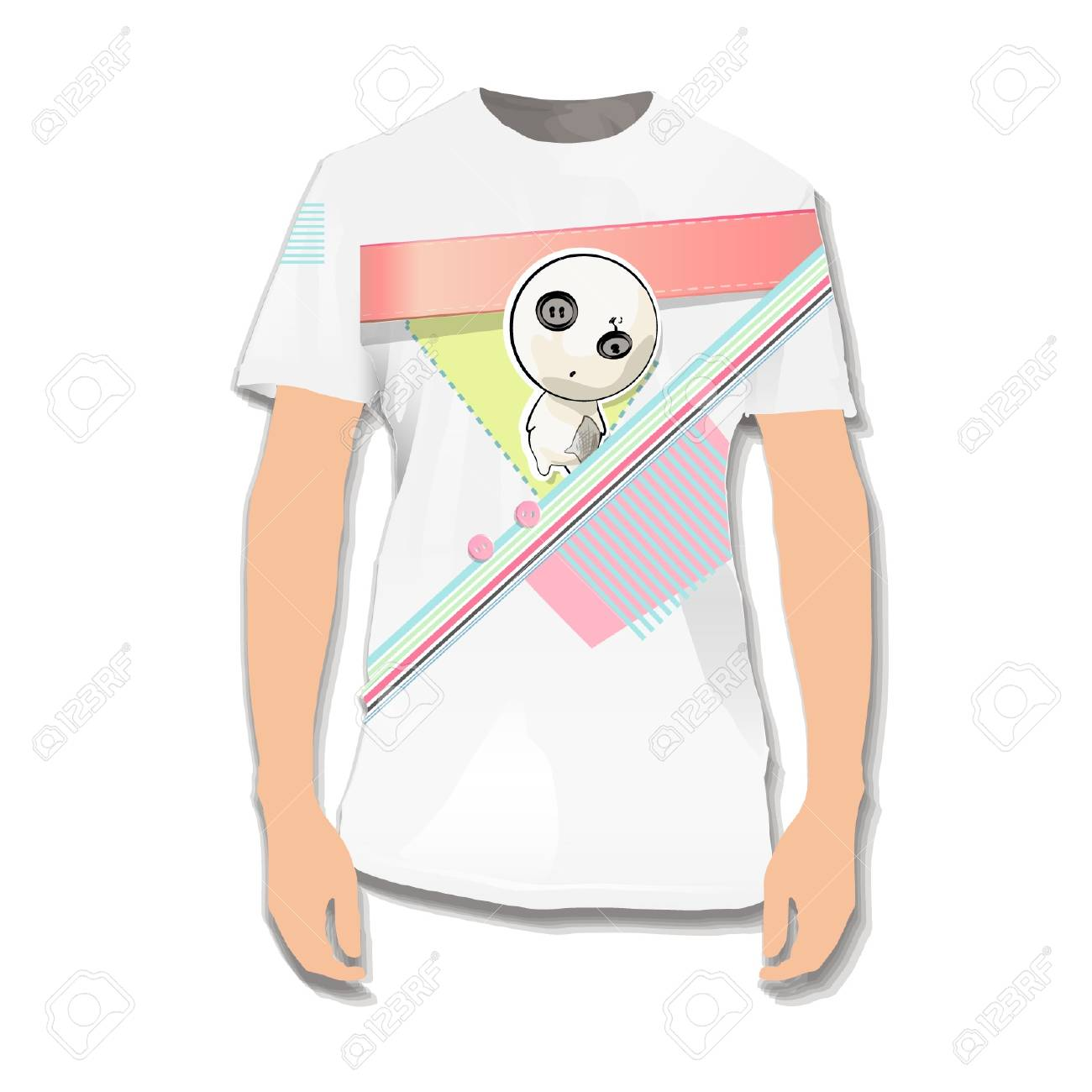 Teddy printed on shirt   design Stock Vector - 17344701