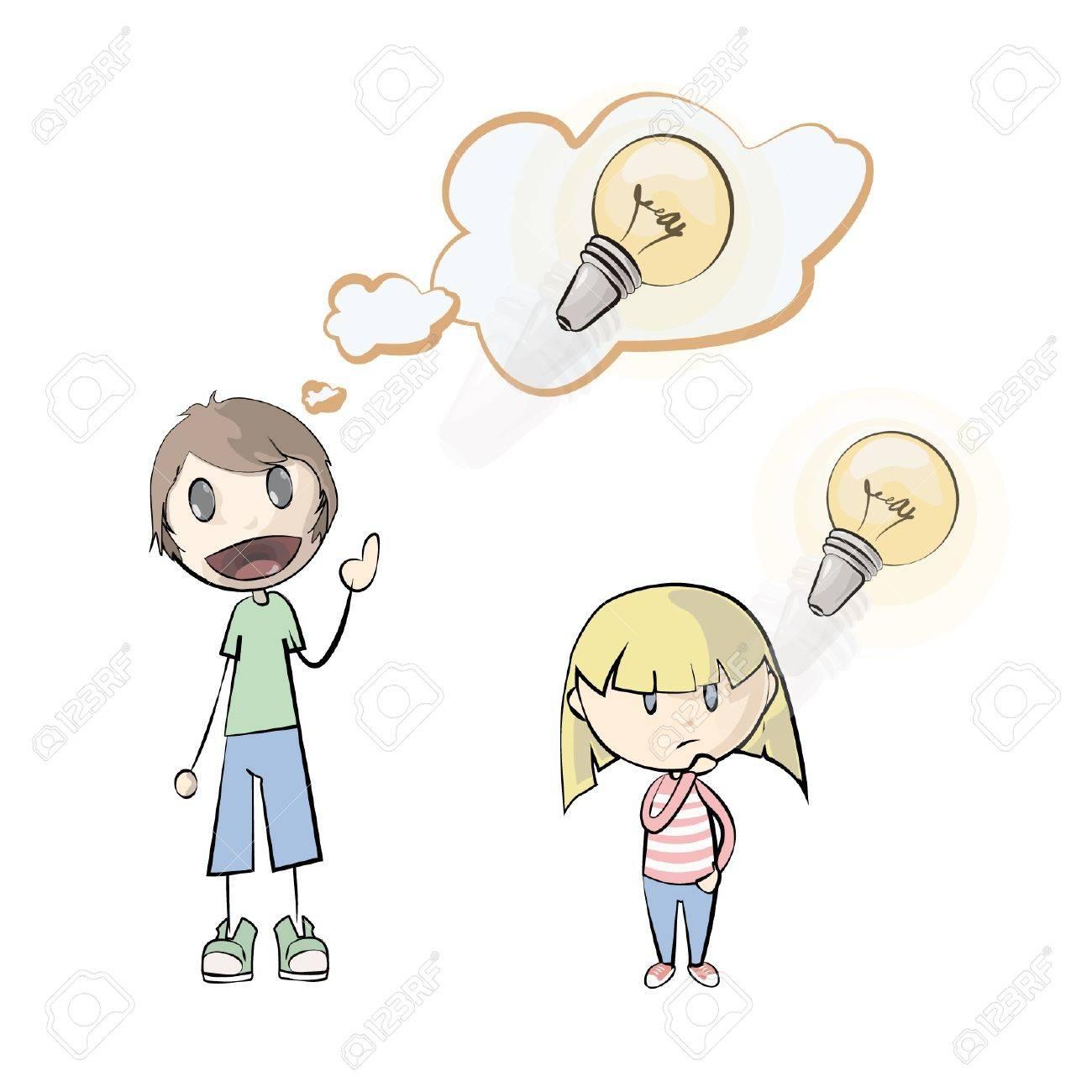 People having an idea  Vector illustration Stock Vector - 17344440