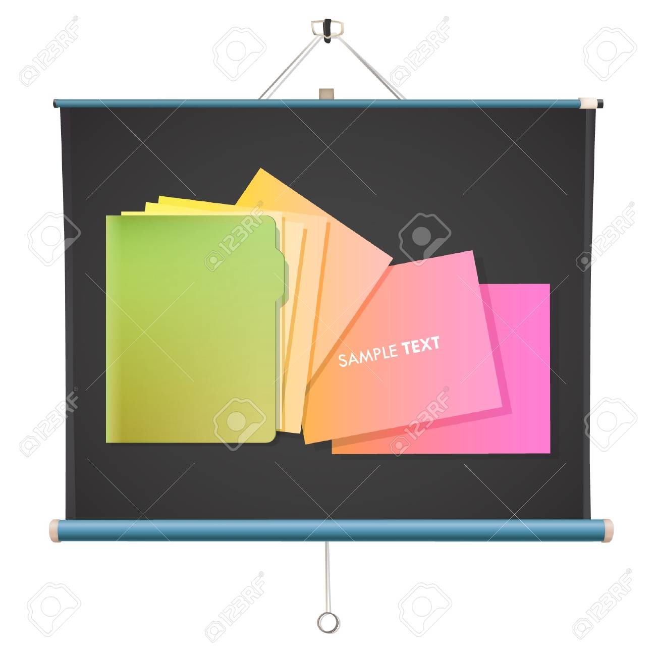 Colorful folder in a projector screen   design Stock Vector - 17344282