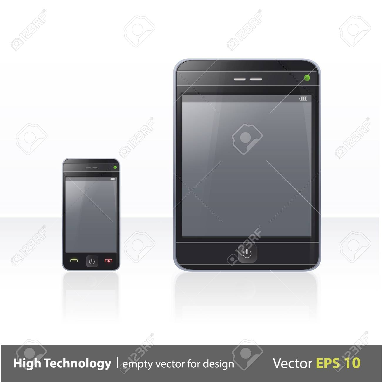Realistic Phone and Pad illustration Stock Vector - 17343393