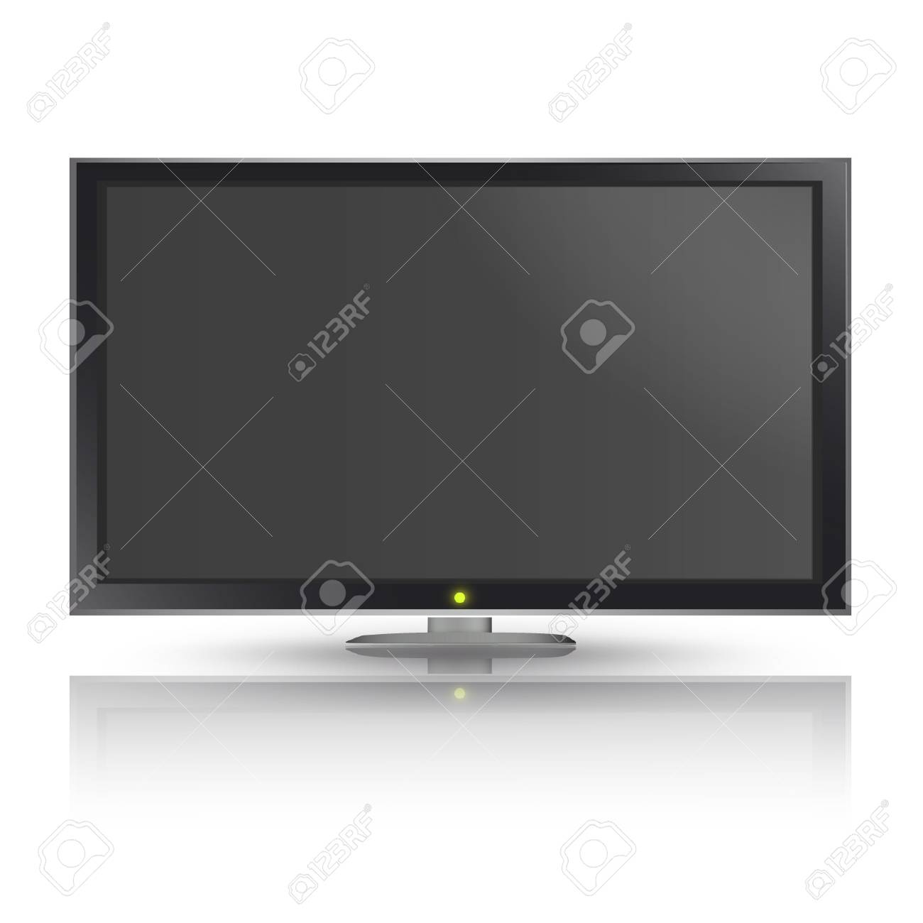 Realistic TV isolated on white background  Vector design Stock Vector - 17409111