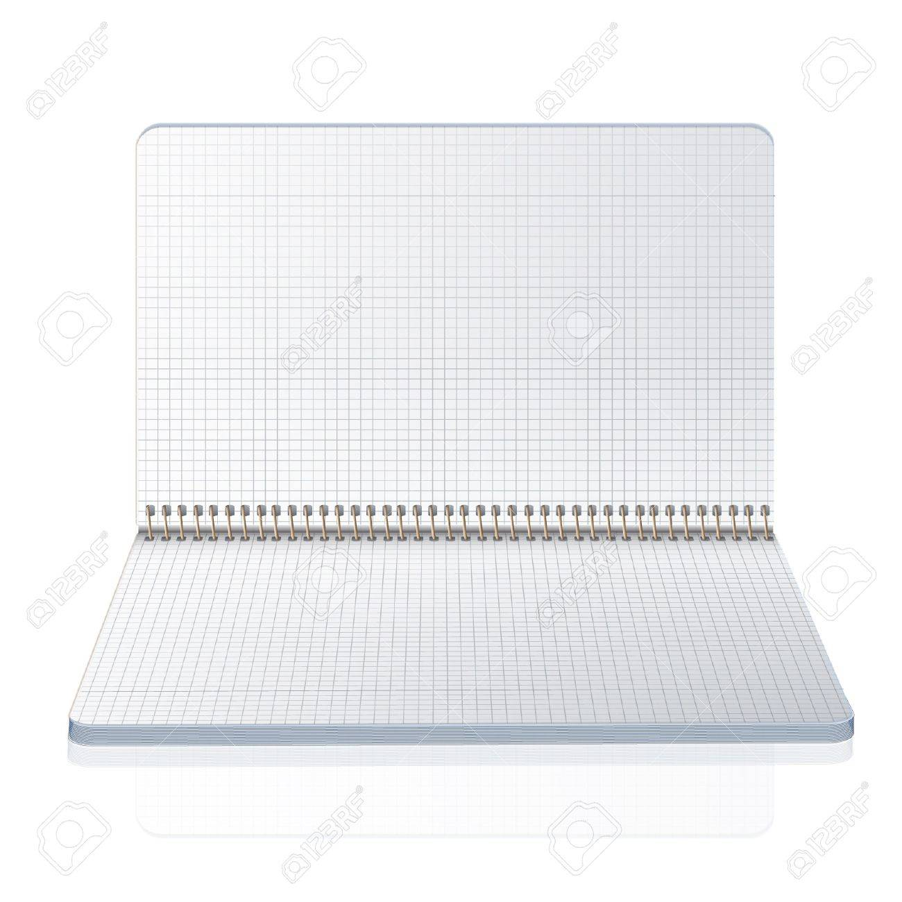 Open notebook with squared  Vector design Stock Vector - 17613758