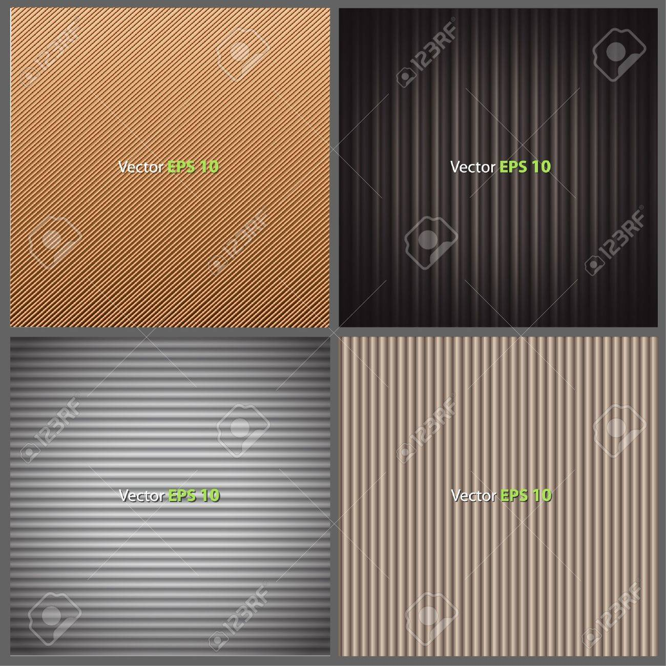 Texture brown leather, brown corrugated cardboard texture, and grey plastic texture  Collection images of vector background design Stock Vector - 17907846