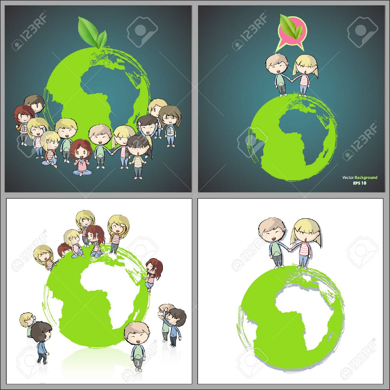 Collection of kids around the planet  Vector design Stock Vector - 17907853