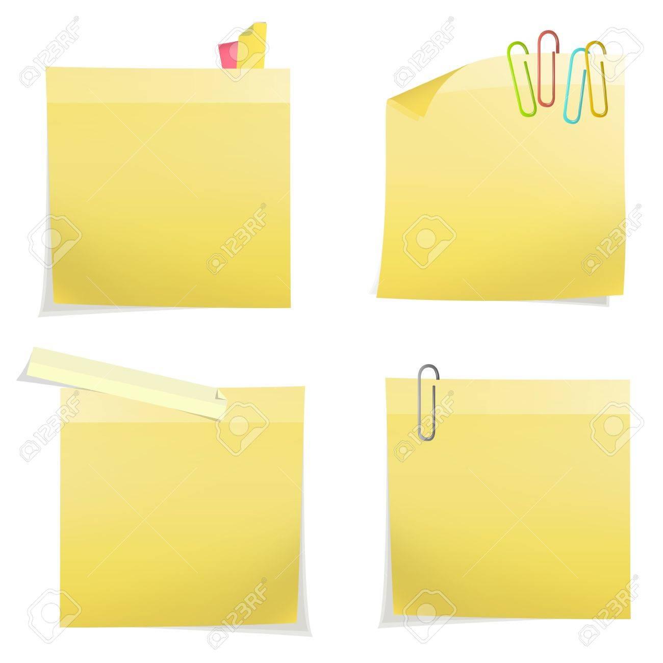 Yellow post it. Vector design Stock Vector - 18255356