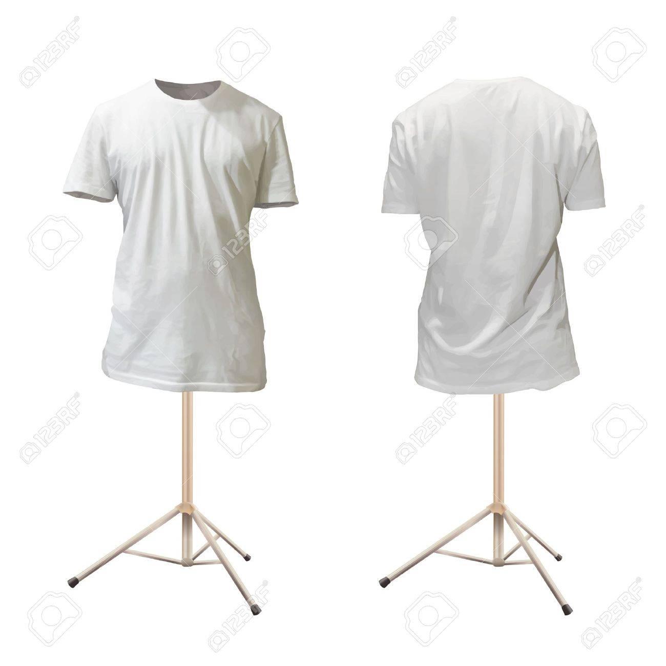 Shirt design white - Empty White Shirt Design Stock Vector 18904118