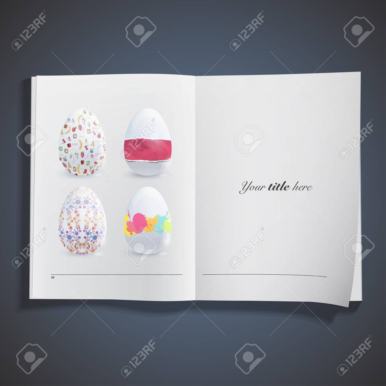 Easter egg with cute designs design. Stock Vector - 19267171