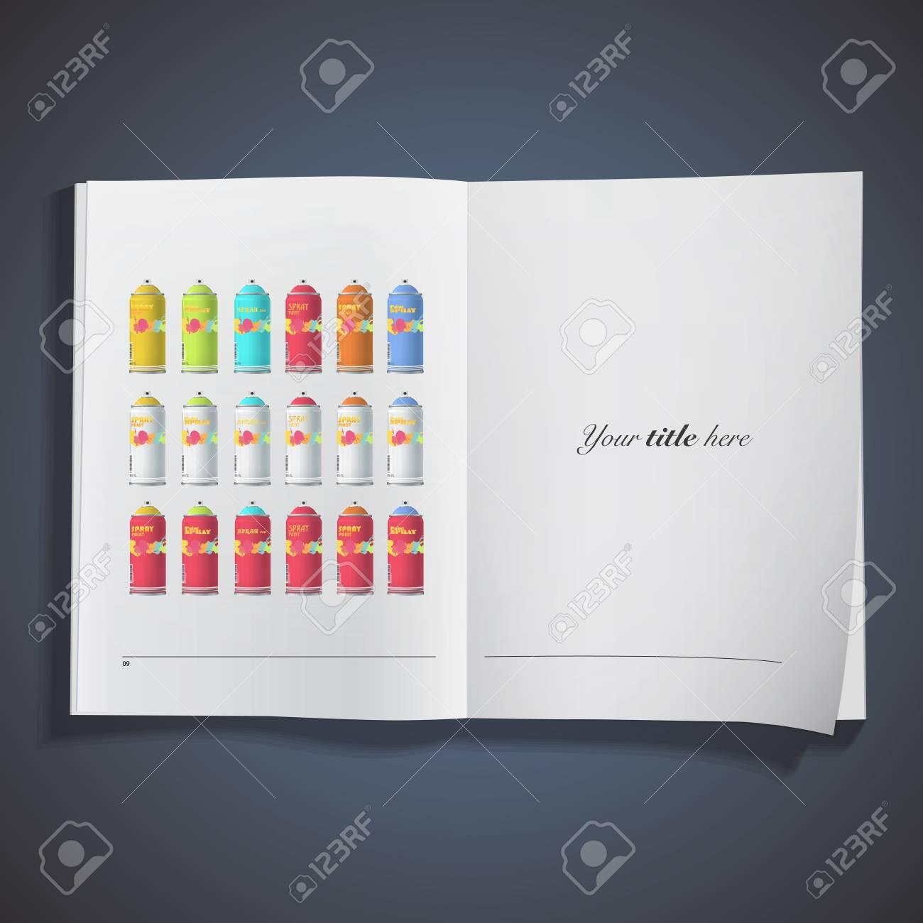 Collection of Spray color with graffiti . Vector design. Stock Vector - 19267146