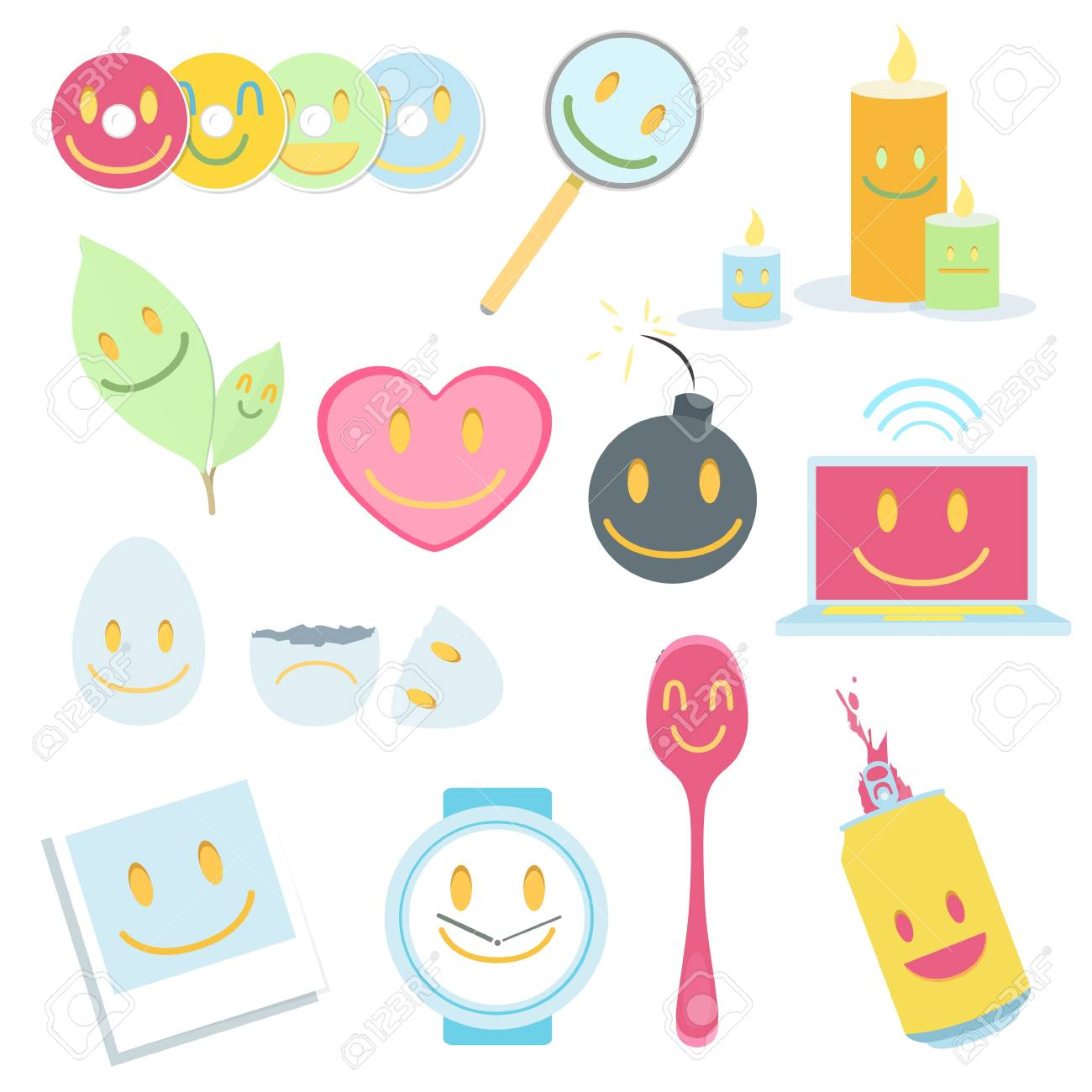 Collection of icons on white background Stock Vector - 20198733