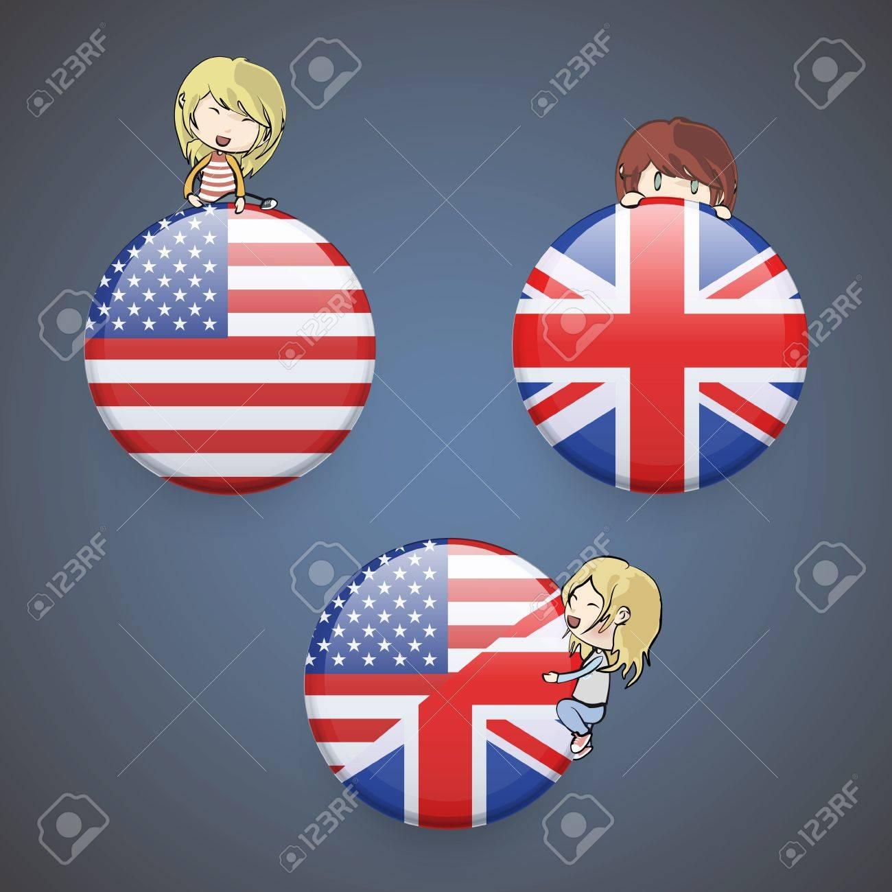 Kids holding English icon. Vector design. Stock Vector - 20365514