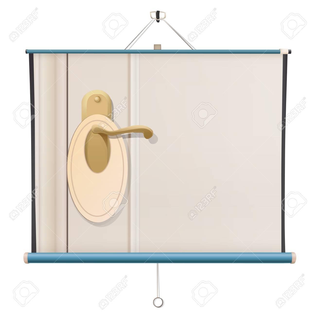 Doorknob on project screen. Vector design Stock Vector - 21025114