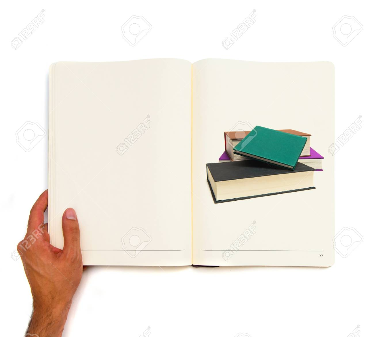 Several books printed on white book Stock Photo - 21918647