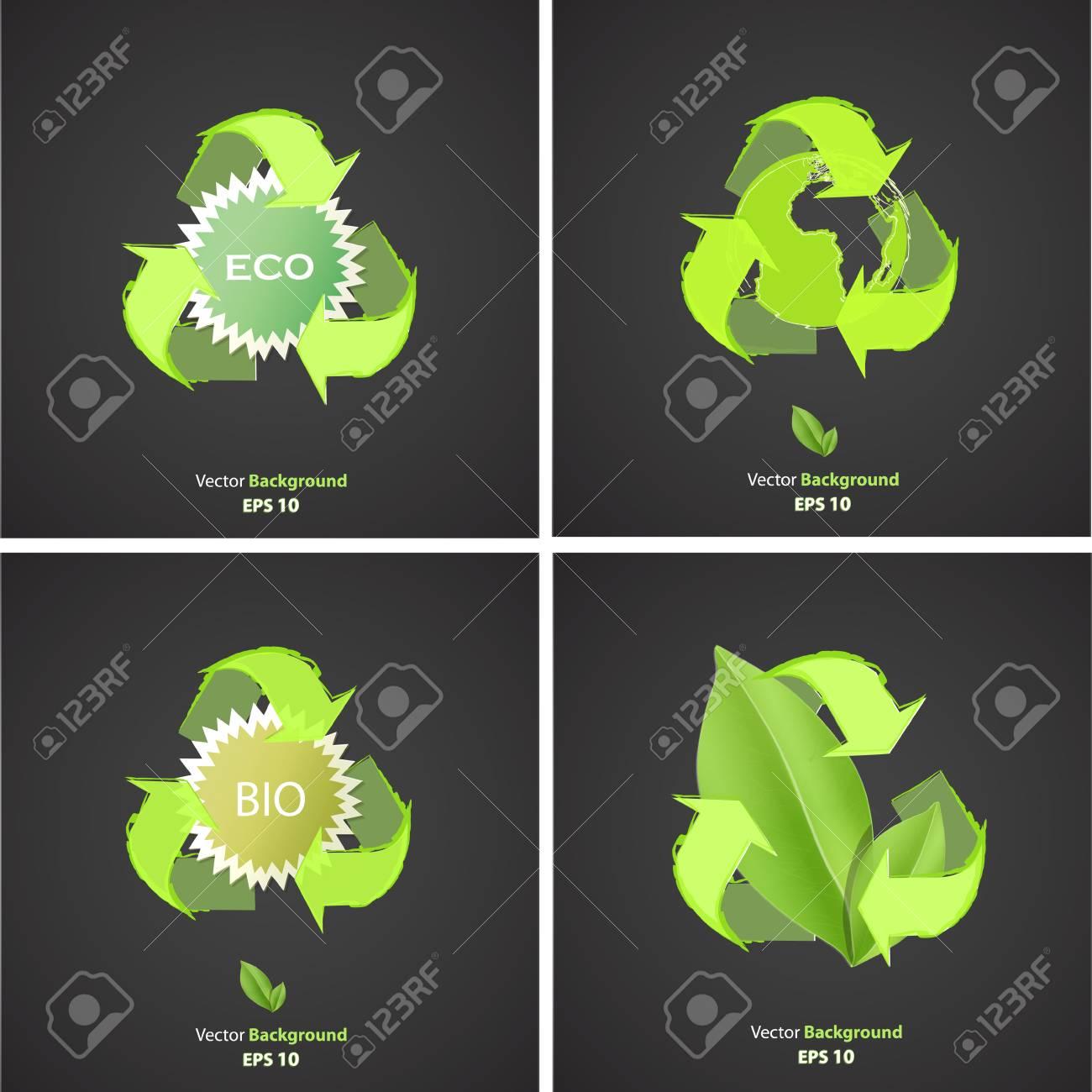 Set of ecologic icons. Vector design. Stock Vector - 23867926