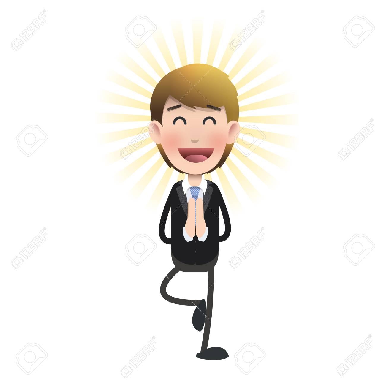 businessman zen over isolated background  Vector design Stock Vector - 25425375
