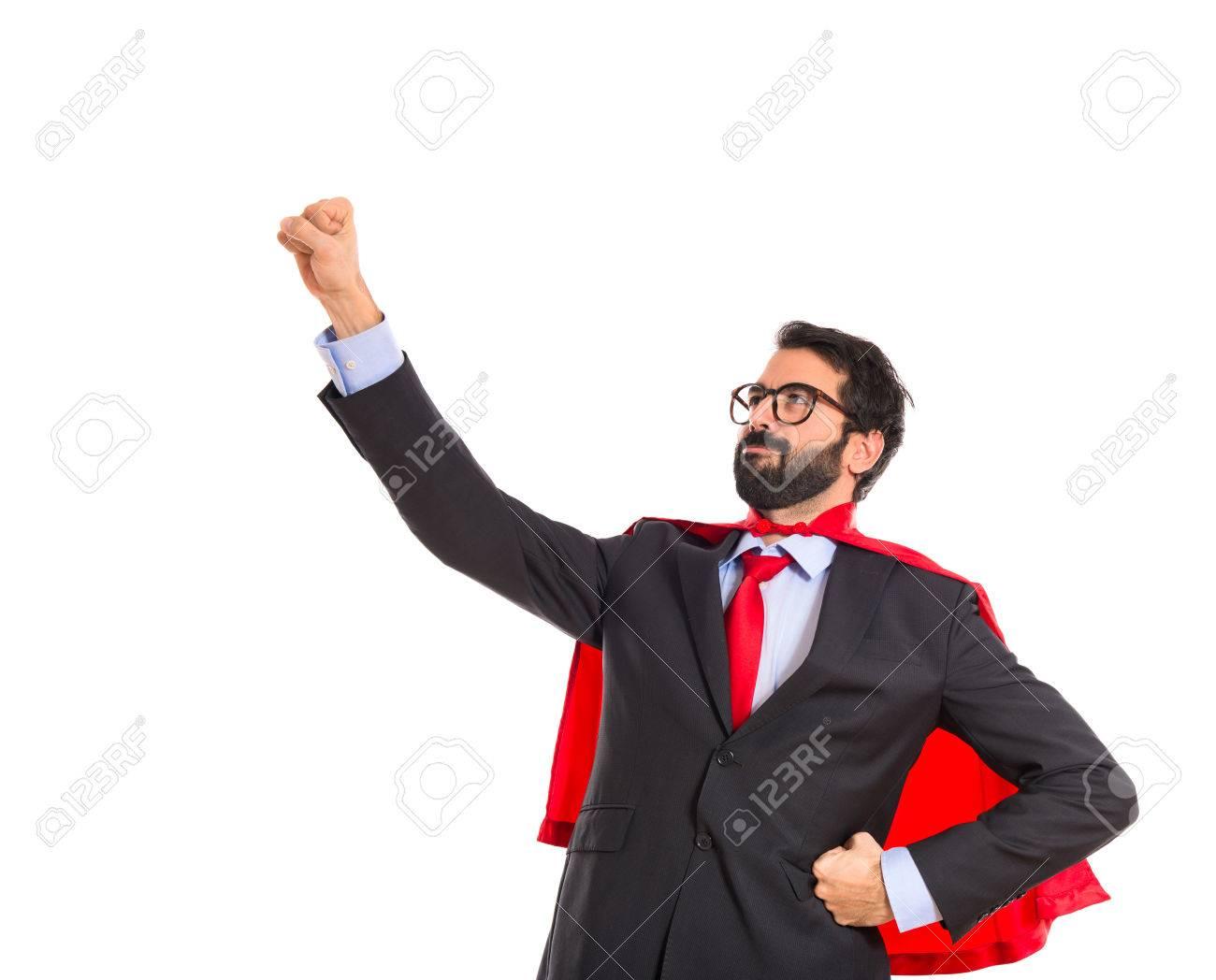 Businessman dressed like superhero Stock Photo - 33542599