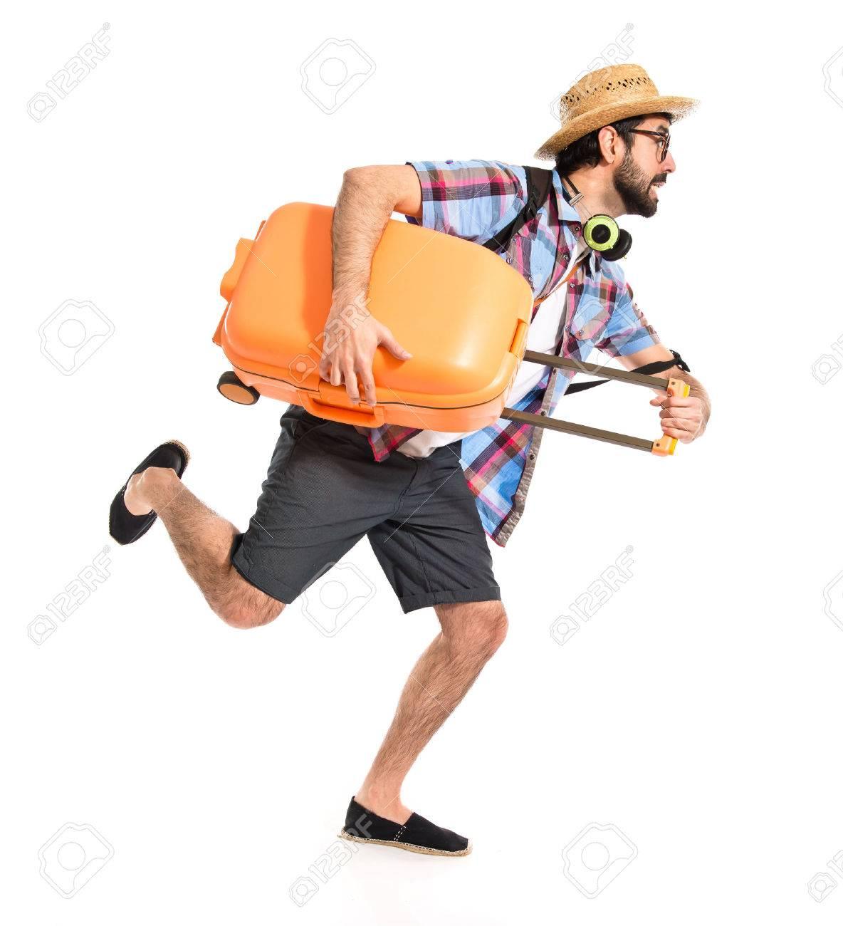 Tourist running fast - 39083623