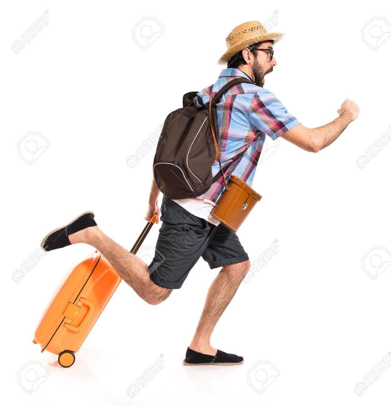 Tourist running fast - 39056185
