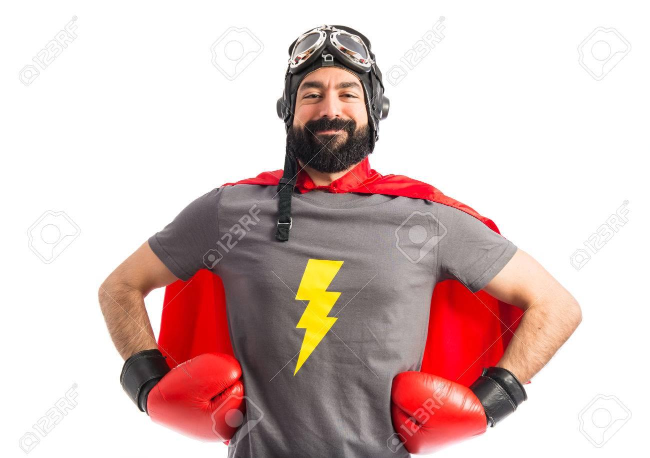 Super hero proud of him self Stock Photo - 40412200
