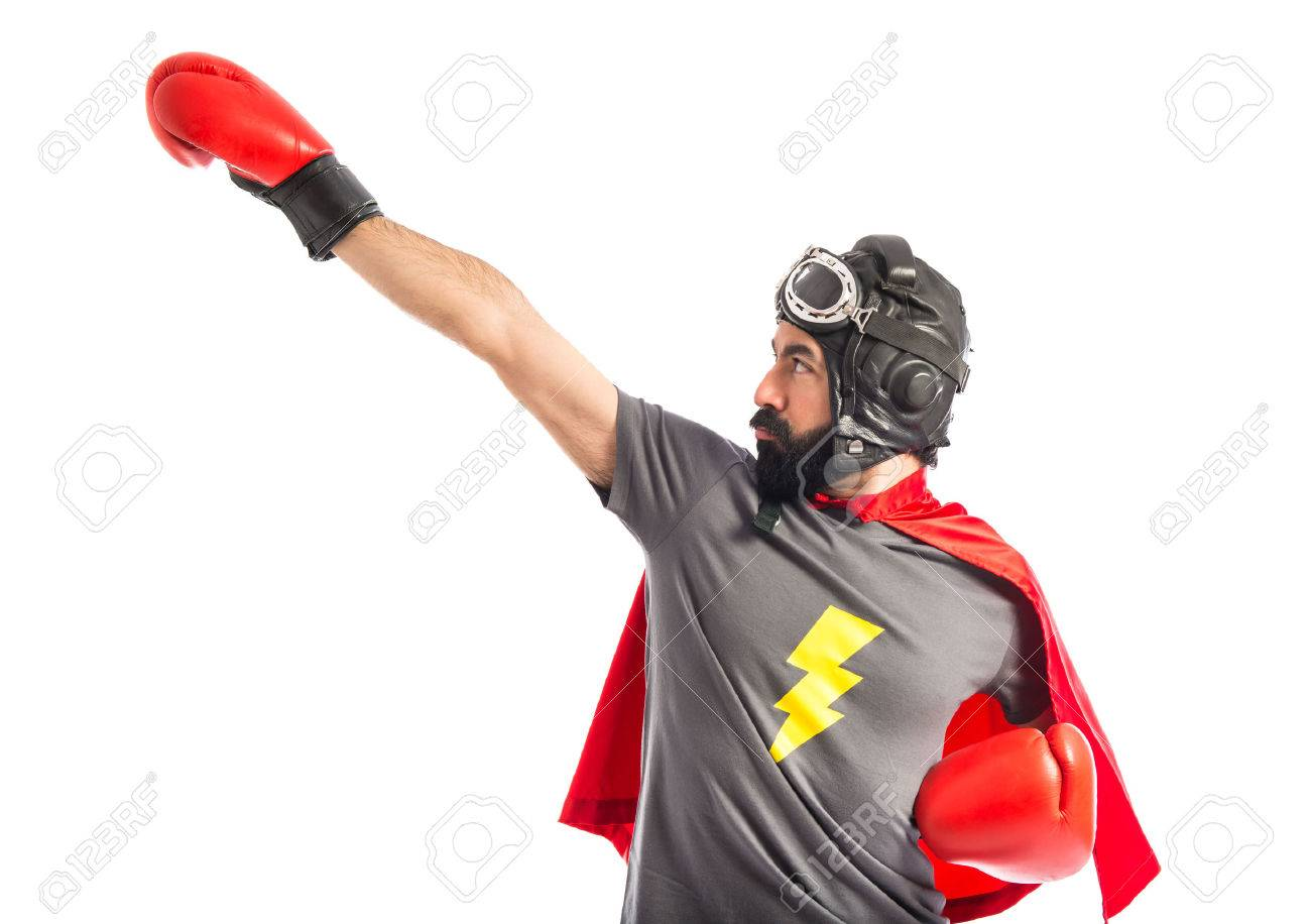 Super hero in fly position - 40412207