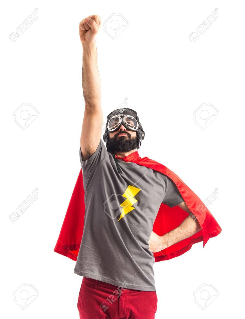 Superhero doing fly gesture Stock Photo - 40412233