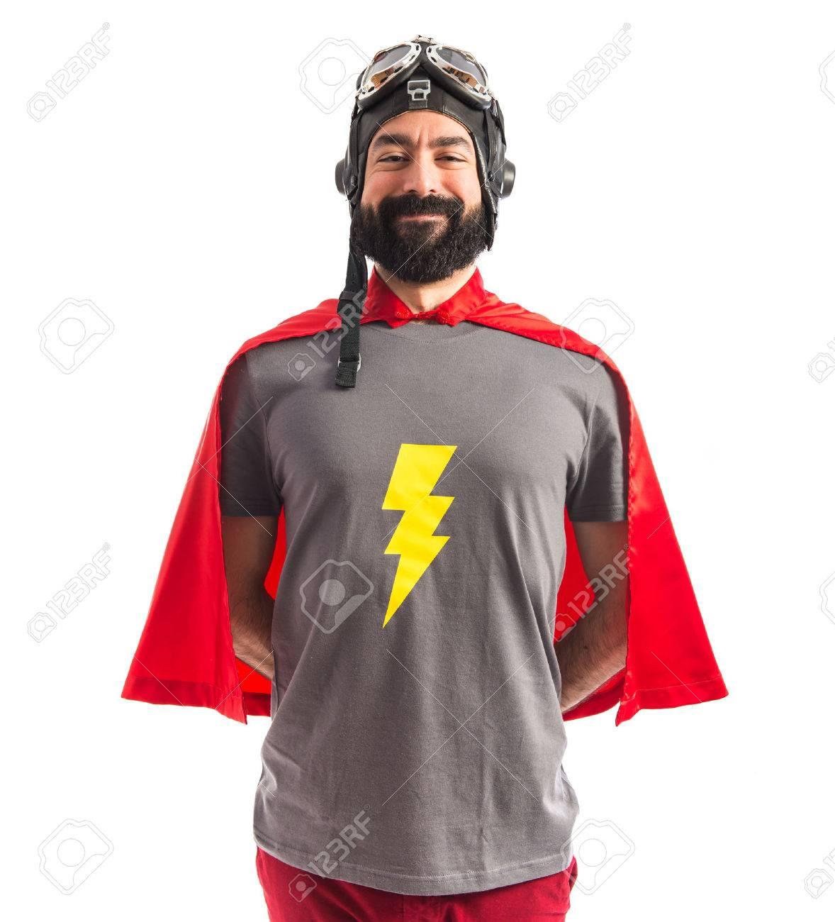 Superhero over white - 40412318