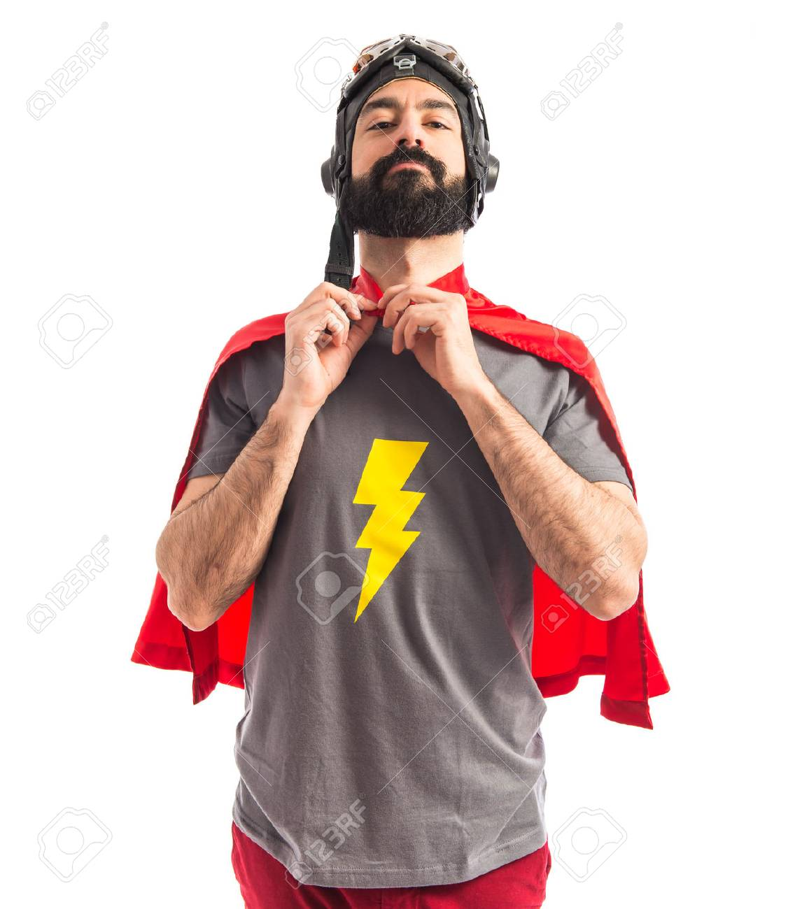 Superhero over white background Stock Photo - 40412317