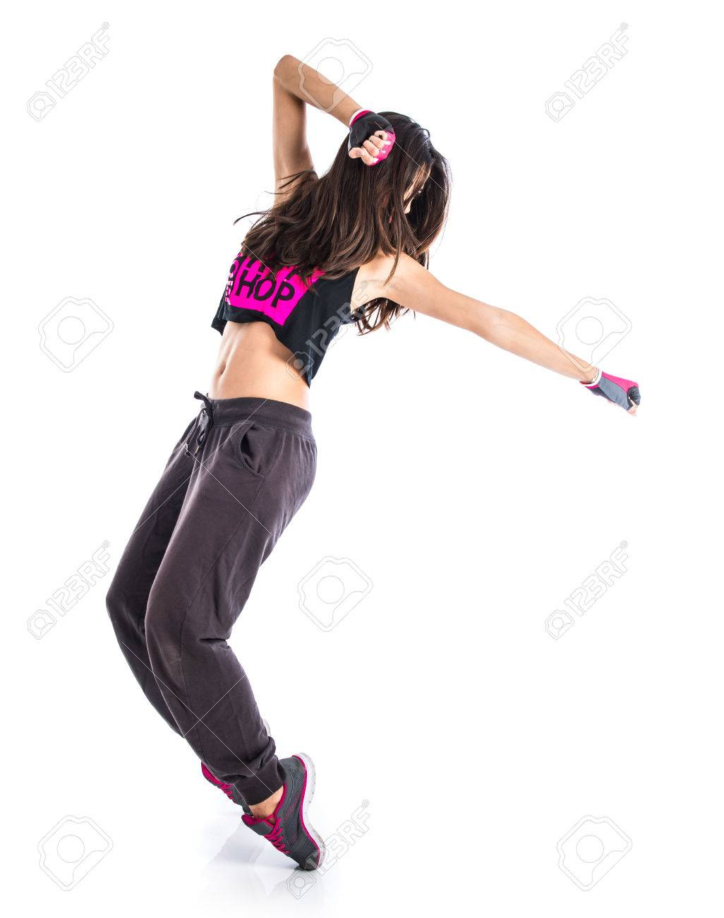 Teenager Girl Dancing Hip Hop Stock Photo Picture And Royalty Free Image Image 41205998