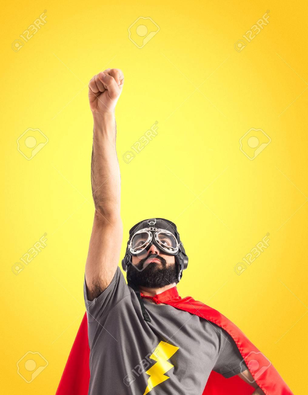 Superhero doing fly gesture - 41310168