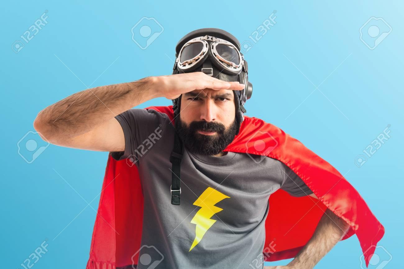 Superhero showing something - 41570494