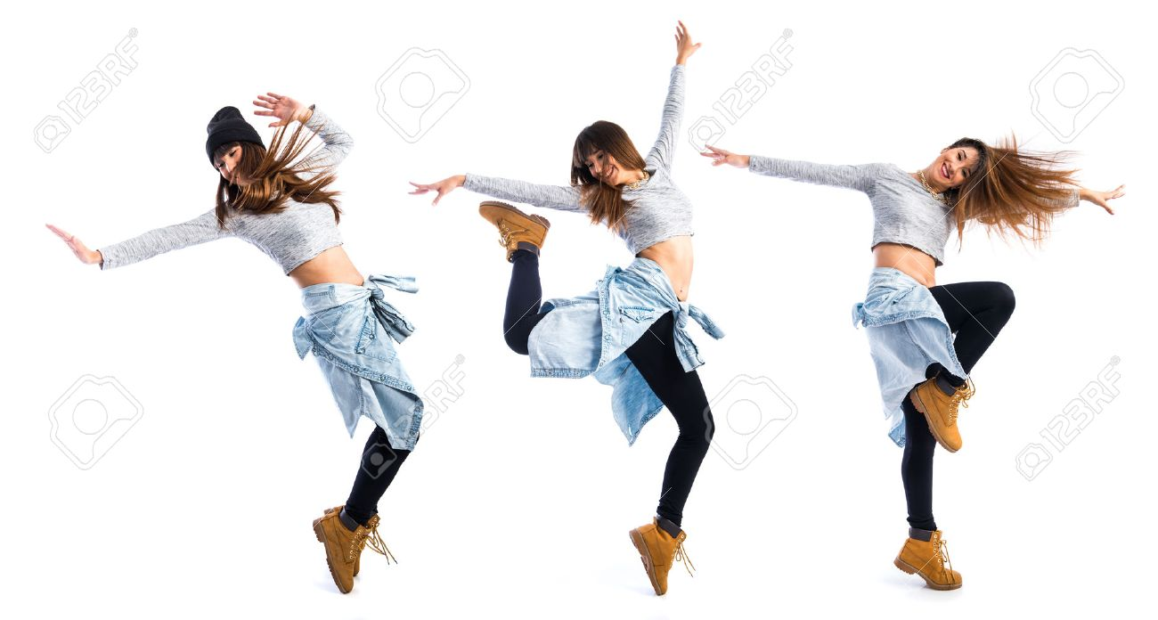 Girl dancing street dance Stock Photo - 47320853