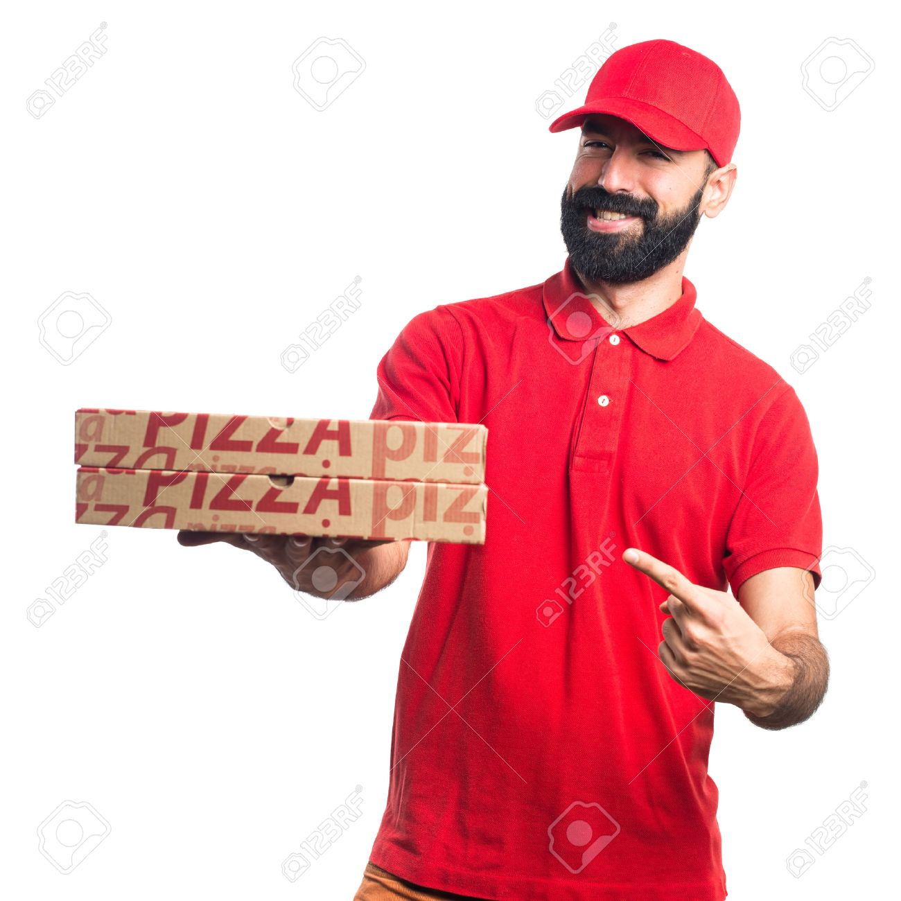 Pizza delivery man Stock Photo - 48446285