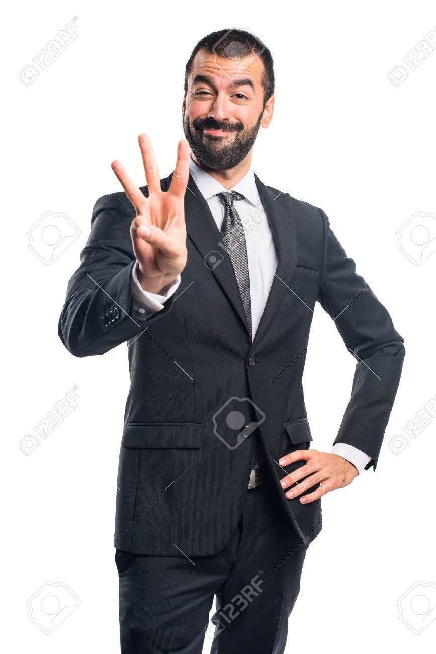 Businessman counting three - 51767797