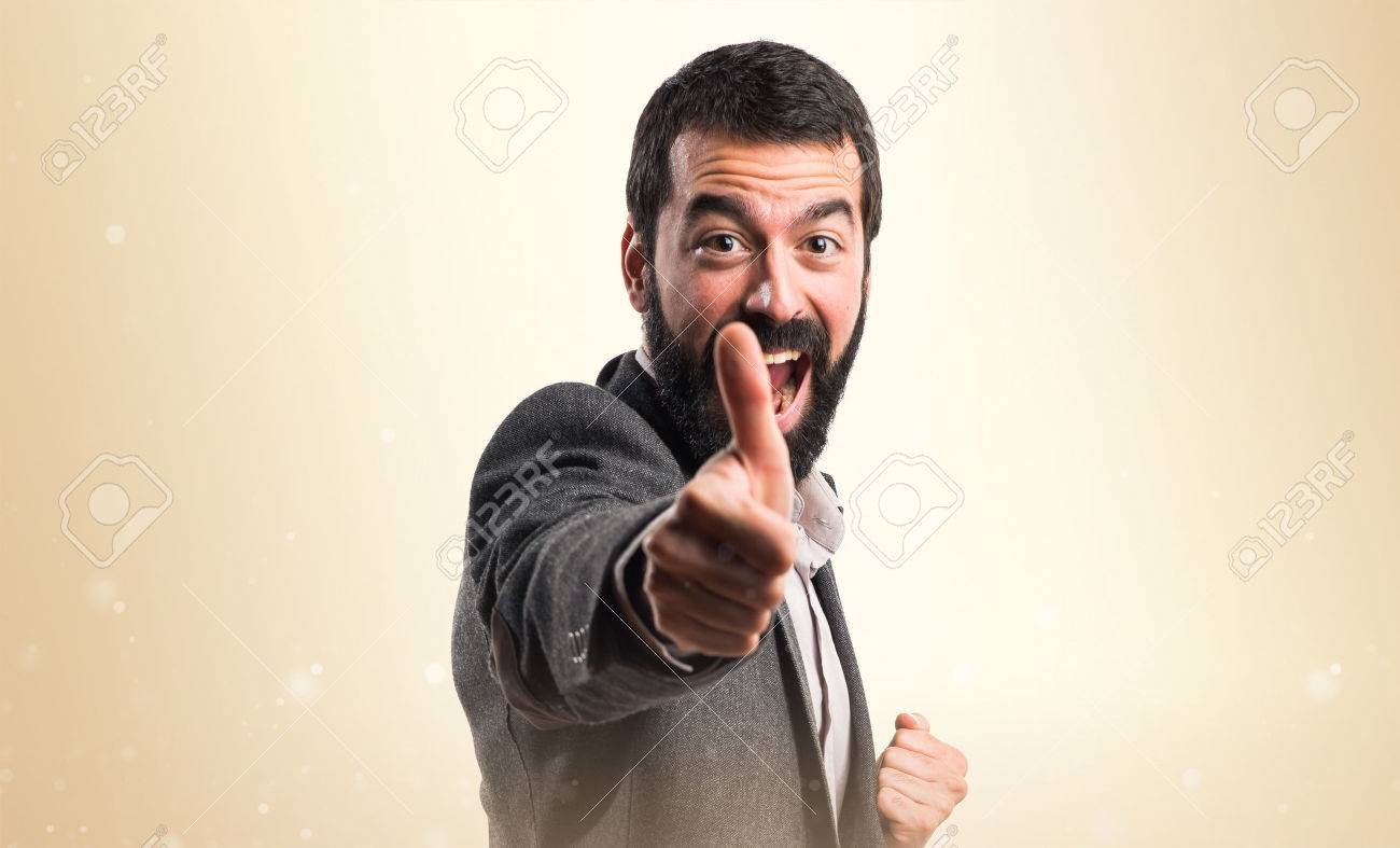 Man with thumb up Stock Photo - 54587345