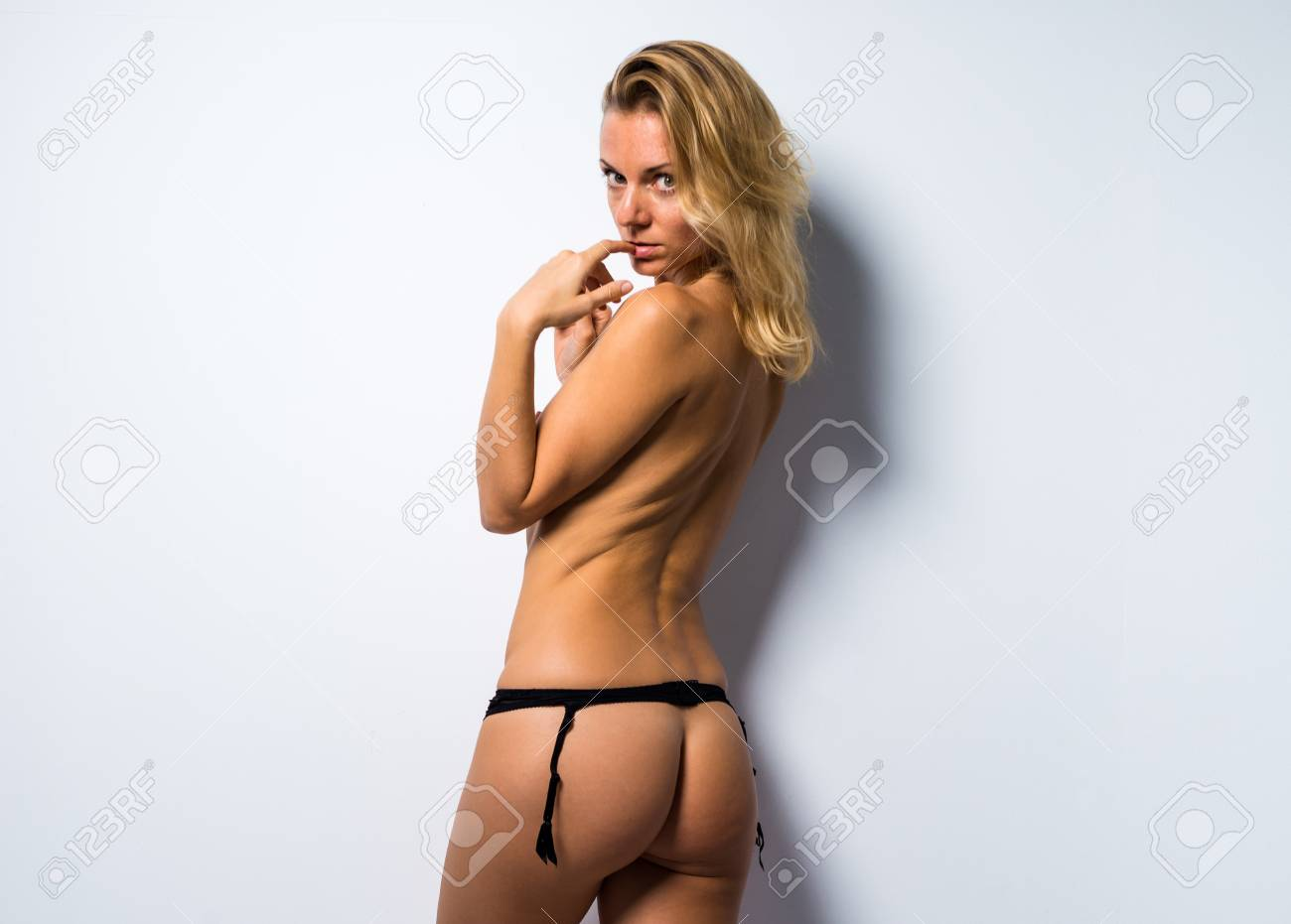 Sexy Naked Blonde Woman Stock Photo 69373261