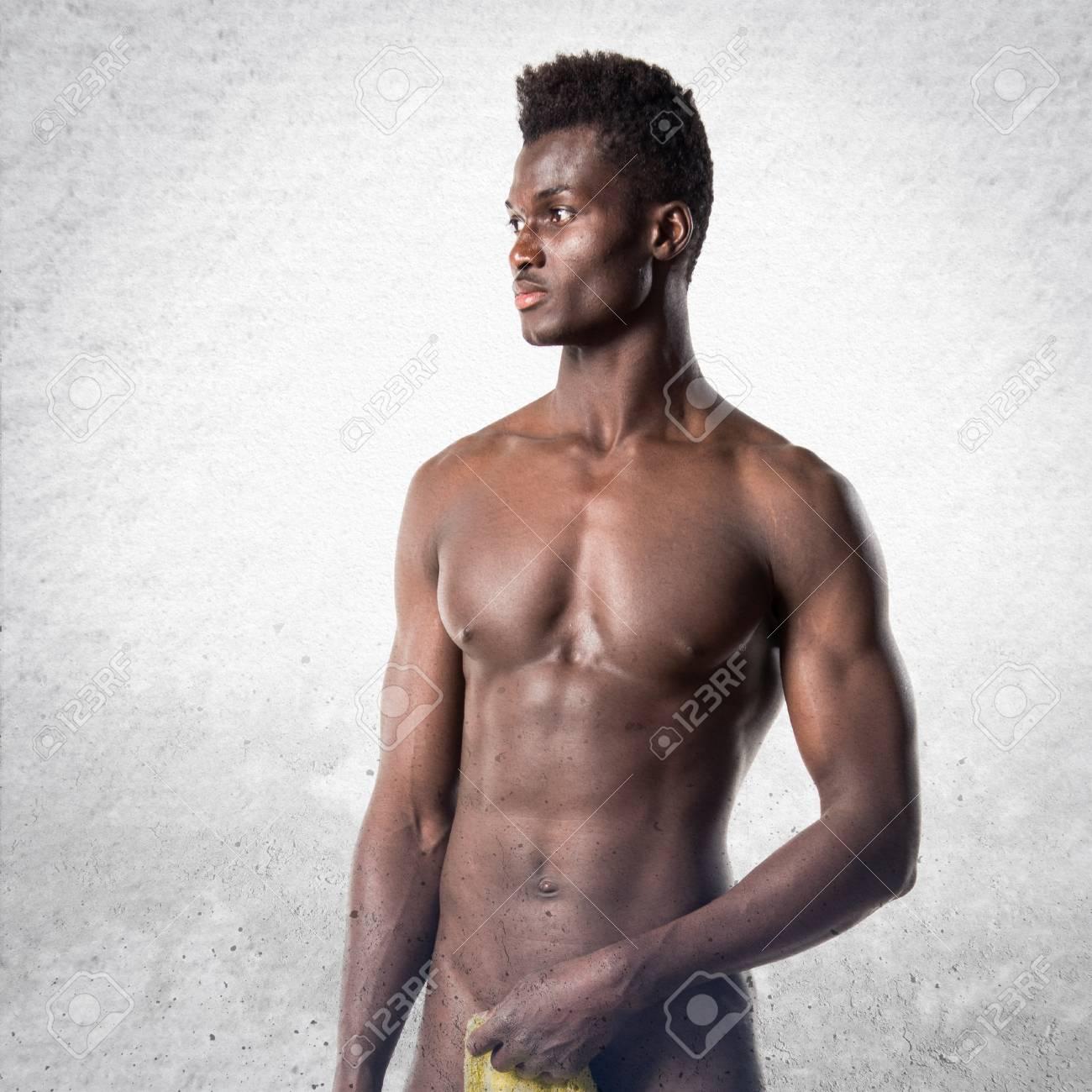 Die Sexvideos Nacktes Körperbild von schwarzen Männern mit Bauchmuskeln