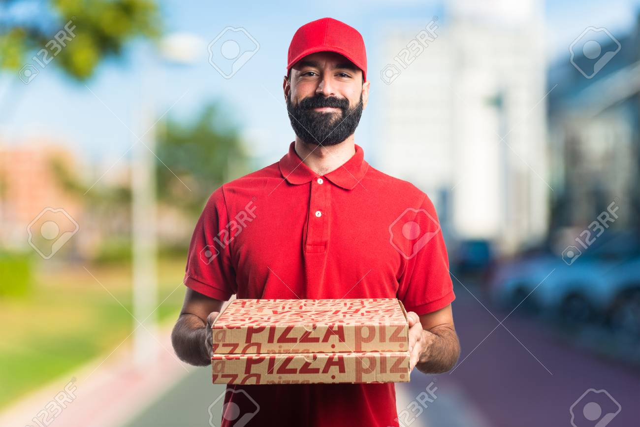Pizza delivery man - 81875637