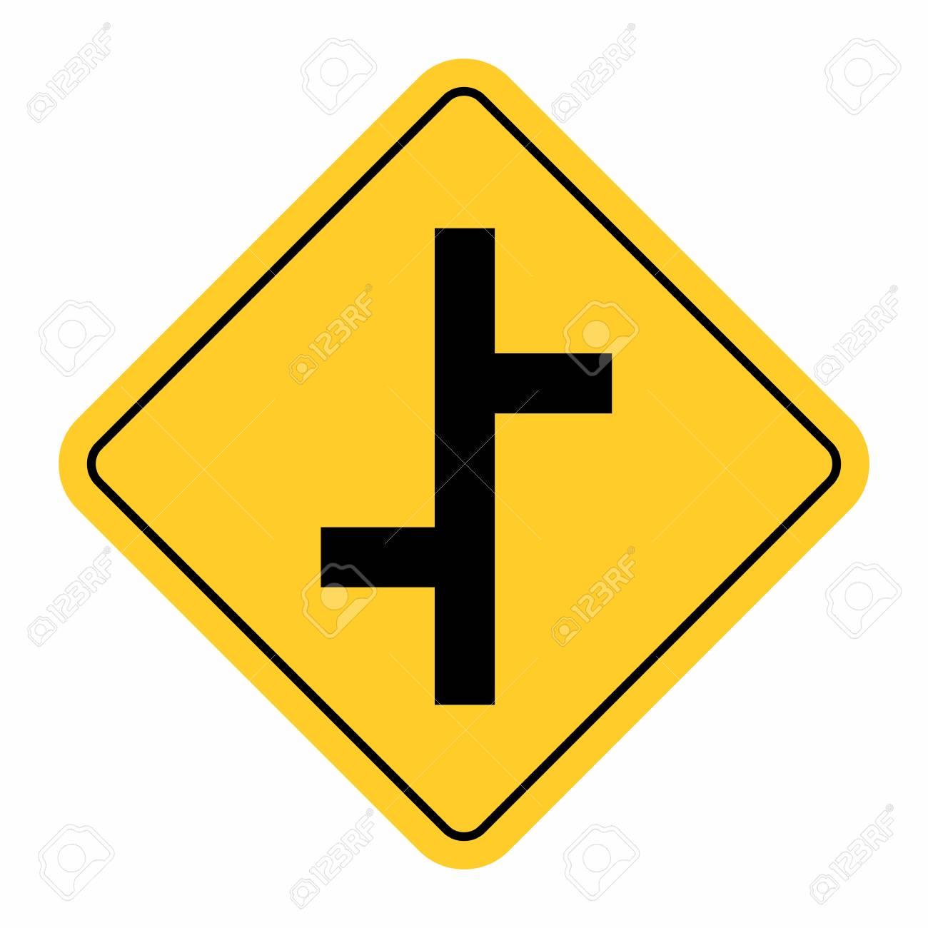 Junction Traffic Road Sign - 120766892