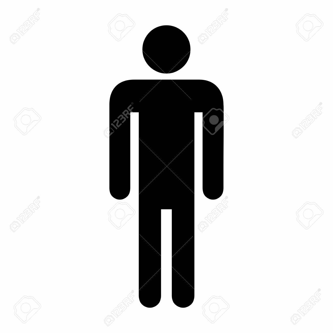 Illustration of Men icon on white background - 131445917